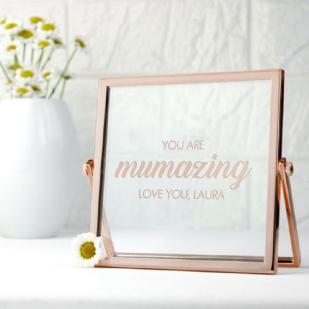 Engraved MUMAZING Rose Gold Coloured Frame